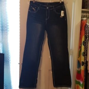 Womens bootcut jeans.
